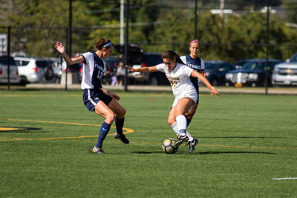 Clarkson Women Soccer vs. Ithaca. Ithaca win 3 to 0.