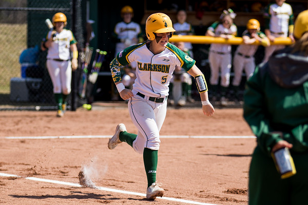 Clarkson Athletics: Women Softball vs. RIT. Game 1. Clarkson Win 5 to 2