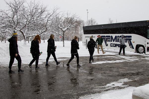 Clarkson Women Hockey Frozen four Send off.