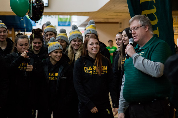 Clarkson Women Hockey Frozen four Send off.