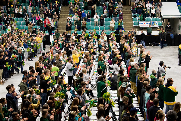 Clarkson Athletics: Women Hockey Celebration for winning the NCAA Championship. Second time Clarkson has won: 2014, and 2017