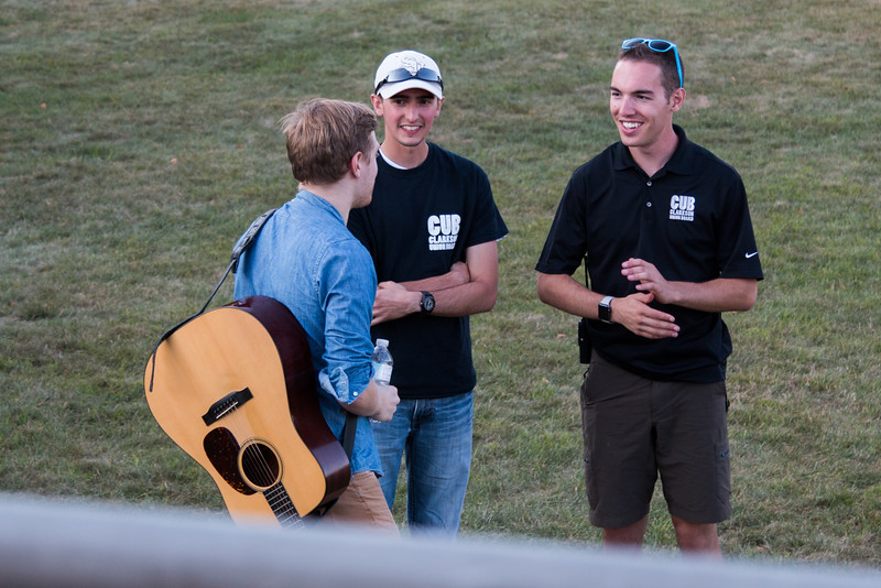 Behind the scenes at Clarkson's Fall Fest Music Concert