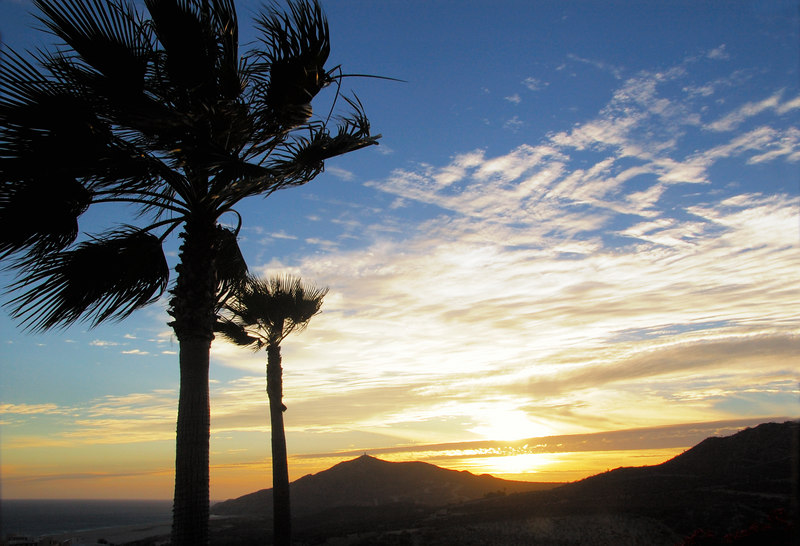 Baja Sunset.  Sunset on the