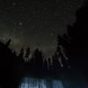 Middle Mc Cloud falls night sky