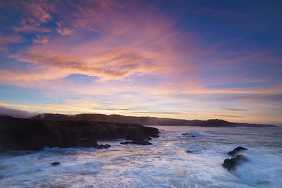 Pastel Skies Over the Rugged Mendocino Coast