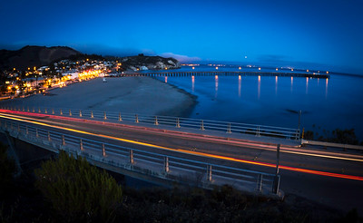 Avila Pier By Night
