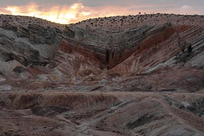 Sunrise over Rainbow Basin, Ca.