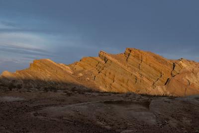 Sunglow at Rainbow Basin, Ca.