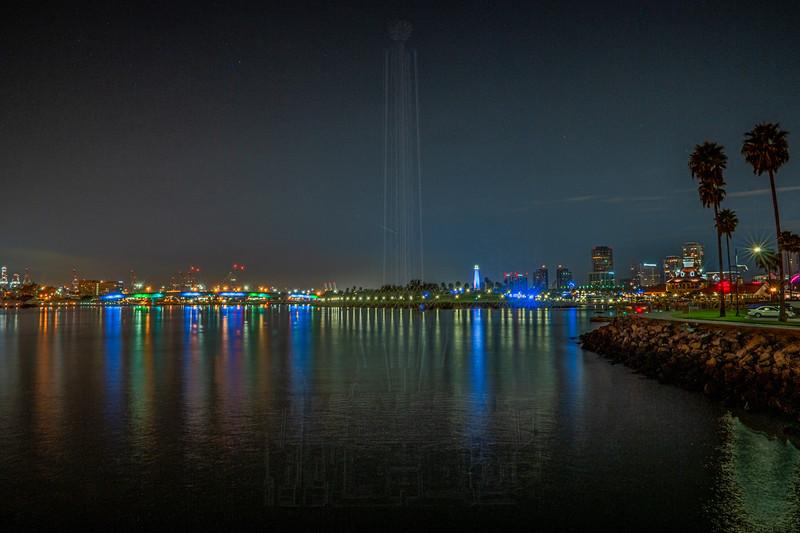 Long Beach at Night.