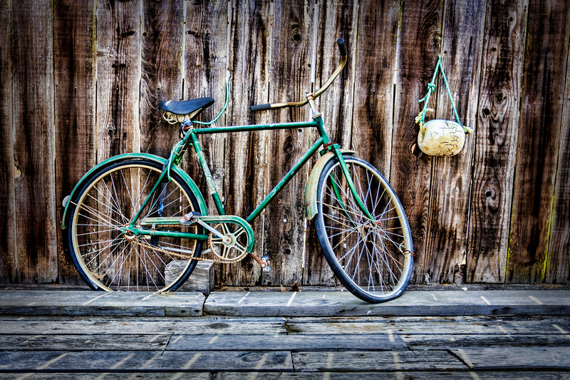 Rustic Green Bike