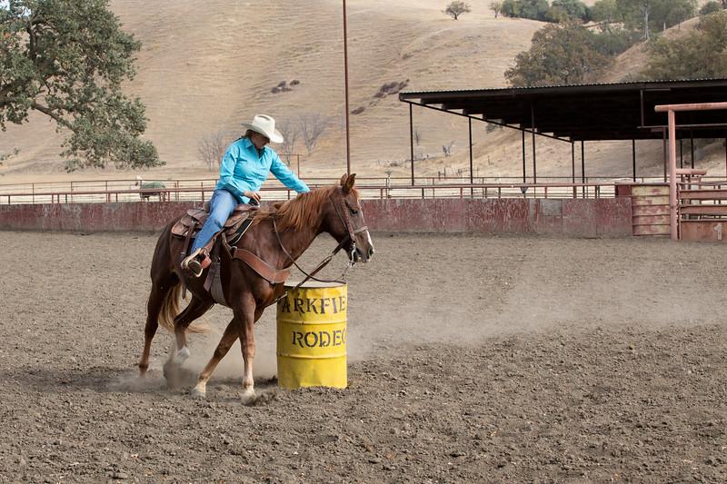Lauren Varian doing the barrels.