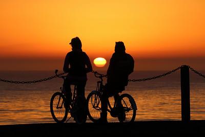 2 Bikers Sunset