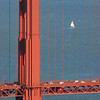 Golden Gate Bridge Detail and Sailboat