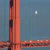 Golden Gate Bridge Detail and Sailboat