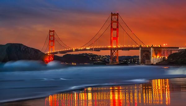 Golden Gate Bridge and baker beach