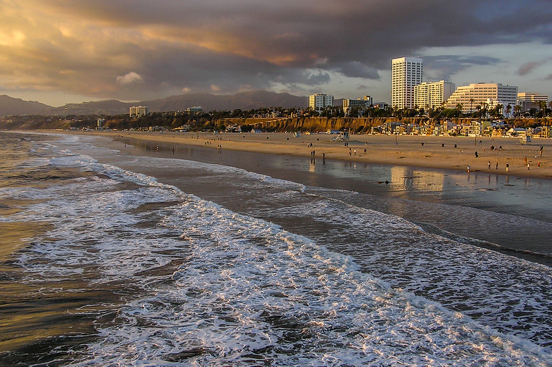 Enjoying and Evening on Santa Monica Beach