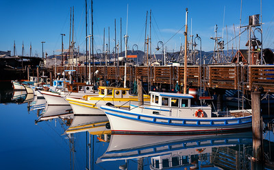 fishing boats in the pier