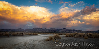Sunset, Coso Junction, Owens Valley