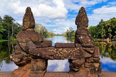 Angkor Thom North Gate (Detail), Siem Reap, Cambodia