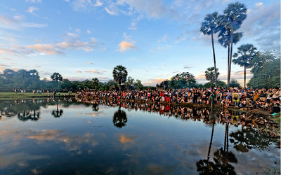 Sunrise Crowd, Angkor Wat, Sieam Reap, Cambodia