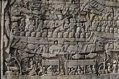 Bas Relief, The Bayon, Siem Reap, Cambodia (2)