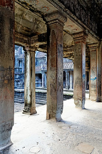 Inner Courtyard, Angkor Wat, Siem Reap, Cambodia