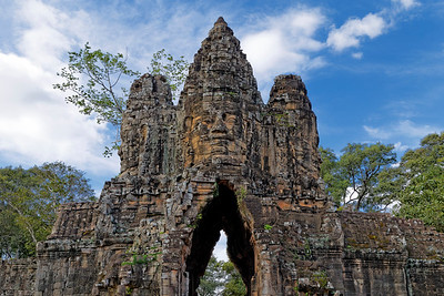 Angkor Thom South Gate (Detail), Siem Reap, Cambodia