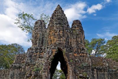 Angkor Thom South Gate (Detail), Siem Reap, Cambodia