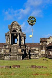 Hot Air Balloon over Angkor Wat, Siem Reap, Cambodia