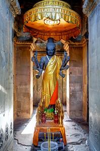 8-armed Statue of Hindu God Vishnu, Angkor Wat, Siem Reap, Cambodia