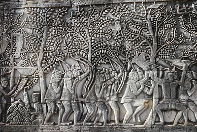 Bas Relief, The Bayon, Siem Reap, Cambodia (1)