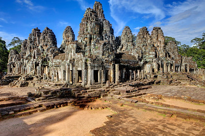 The Bayon Lower Courtyard, Siem Reap, Cambodia
