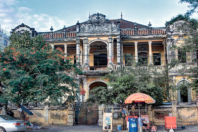 Abandoned Grand Colonial Residence near National Museum, Phnom Penh
