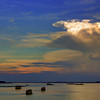 Confluence of Four Rivers at Sunset, Phnom Penh, Cambodia