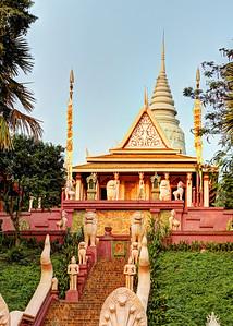 Wat Phnom at Sunrise