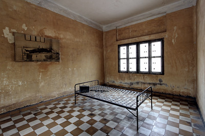 Toul Sleng Museum Cell, S21, Phnom Penh, Cambodia