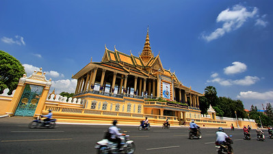 Exterior of Grand Palace, Phnom Penh, Cambodia