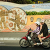 Mural and bike, Saigon-6884