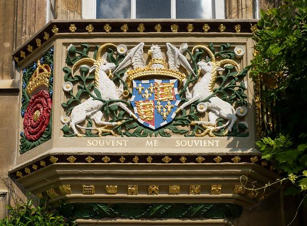 Crest, The Master's Lodge, Christ's College, Cambridge