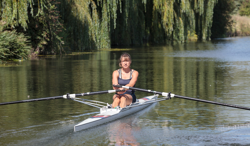 Canoeist on the River Cam