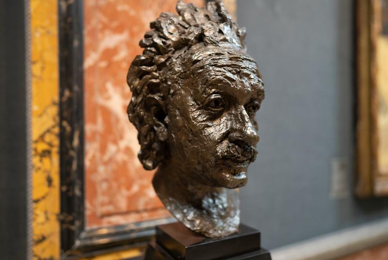 Bust of Albert Einstein at the Fitzwilliam Museum, Cambridge