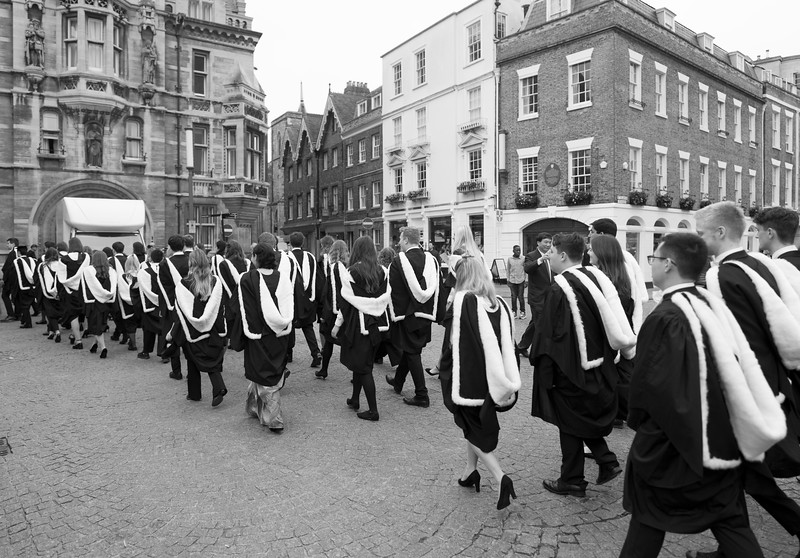 Degree Procession From King's College to the Senate House, Cambridge