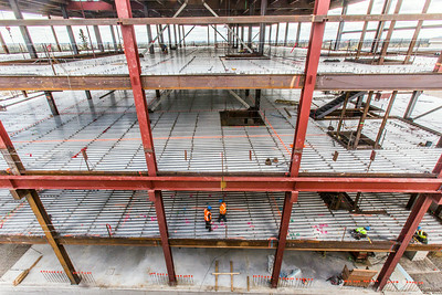 Construction is underway in May, 2014 on UAF's new engineering facility.  Filename: CAM-14-4177-8.jpg