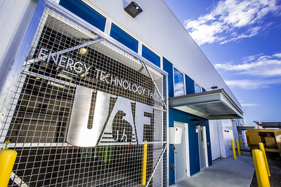 The Alaska Center for Energy and Power's Technology Facility is located near the Atkinson Building Power Plant on the Fairbanks campus.  Filename: CAM-12-3479-174.jpg
