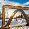 "The 2013 ice arch, designed and built on the Fairbanks campus each spring by engineering students, was constructed of pykrete - a combination of water and sawdust.  <div class=""ss-paypal-button"">Filename: CAM-13-3756-8.jpg</div><div class=""ss-paypal-button-end"" style=""""></div>"