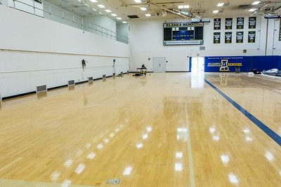 The Patty Gym is under construction in summer of 2014 replacing the bleachers.  Filename: CAM-14-4245-8.jpg