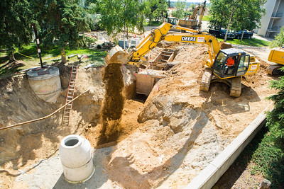 2012 summer construction projects continues on campus.  Filename: CAM-12-3450-3.jpg