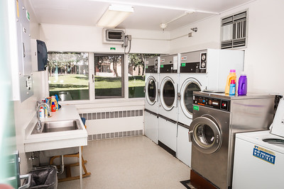 Residents of Wickersham Hall have access to free unlimited laundry at the Fairbanks campus.  Filename: CAM-16-4941-44.jpg