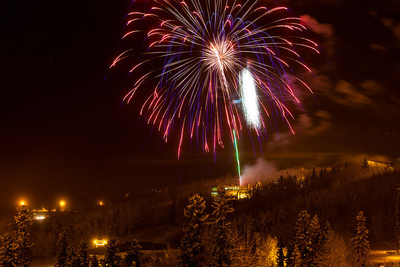 "Fireworks light up the sky above UAF's West Ridge during the annual New Year's Eve Sparktacular. The event is organized by Mike Thomas, owner of University Chevron, and is sponsored by a group of Fairbanks community groups and businesses listed at this link: http://www.uafnews.com/headlines/community-invited-to-sparktacular-celebration.  <div class=""ss-paypal-button"">Filename: CAM-11-3251-33.jpg</div><div class=""ss-paypal-button-end"" style=""""></div>"