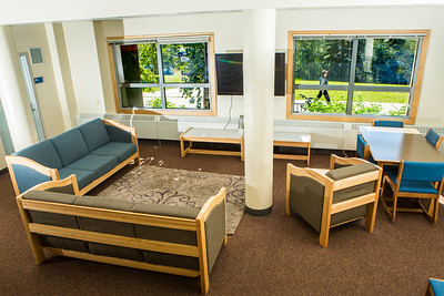 Lathrop Hall has a capacity for up to 130 students with a large lounge on the ground floor.  Filename: CAM-16-4941-90-Edit.jpg